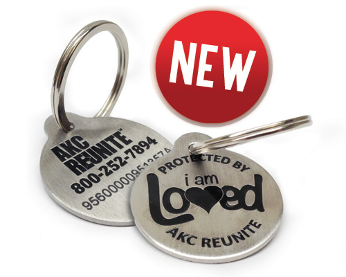 AKC Reunite Pet ID Tags and Dog Collars