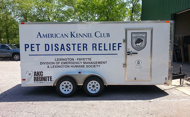 AKC Pet Disaster Relief Donates Trailer to Kentucky