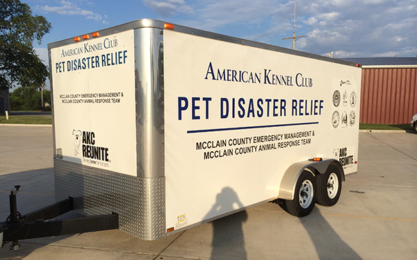 AKC Pet Disaster Relief Trailer
