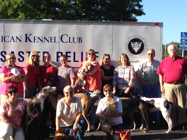 Group Photo at Missouri AKC Pet Disaster Trailer Event