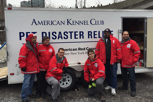 NYC Red Cross with AKC Pet Disaster Relief Trailer in NYC