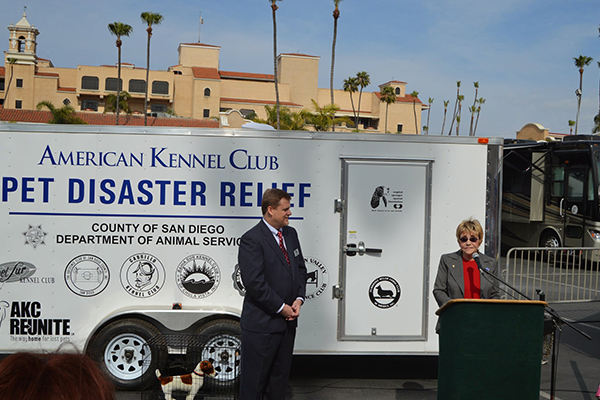 AKC Pet Disaster Relief San Diego Trailer Presentation