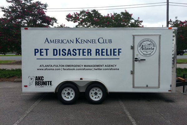 AKC Pet Disaster Relief Donates Trailer to Atlanta, GA
