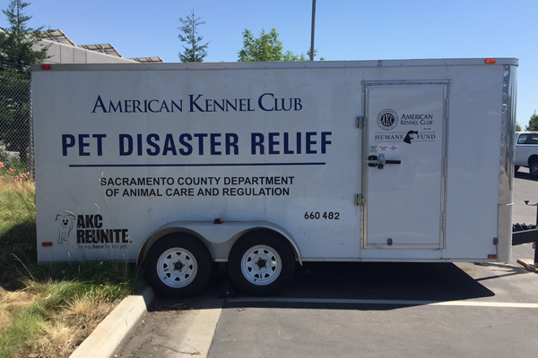 AKC Pet Disaster Relief Sacramento Trailer