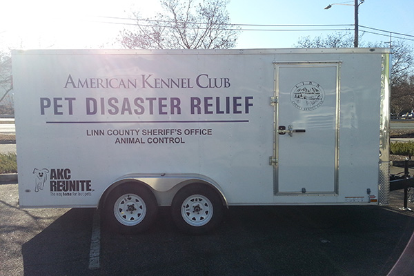 AKC Pet Disaster Linn County Trailer Side