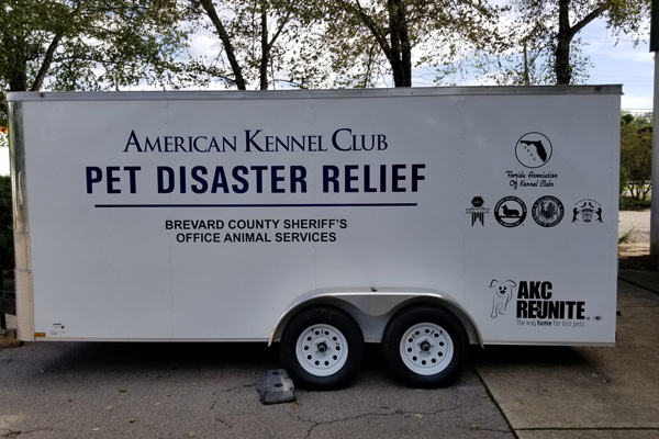 AKC Pet Disaster Relief Rolls Out Help for Pets in Brevard County, FL