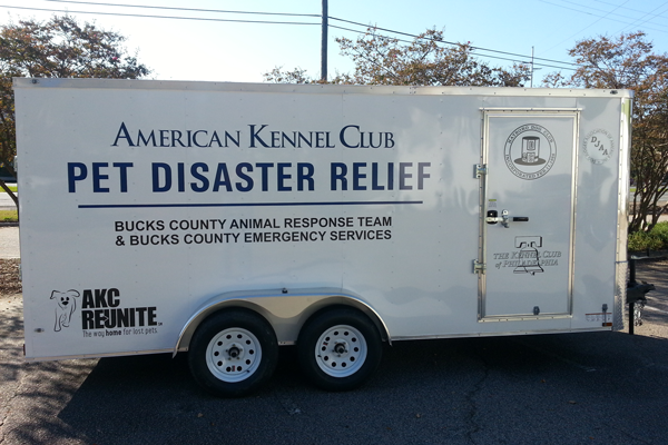 AKC Pet Disaster Relief Rolls Out Help for Pets in Bucks County