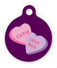 Candy Hearts Pet ID Tag