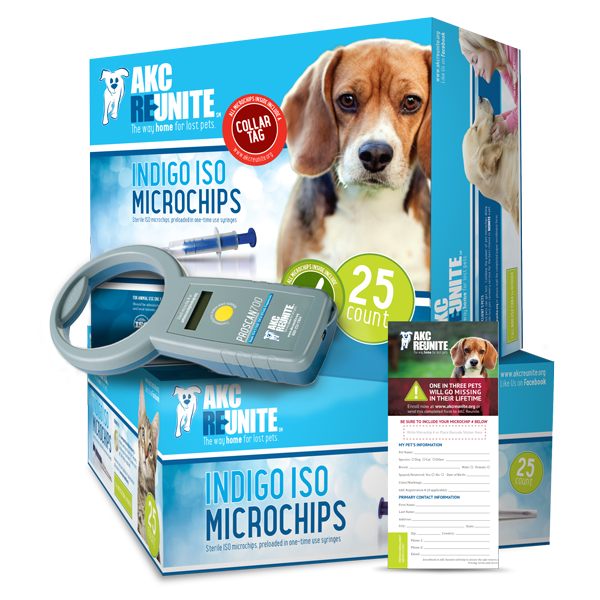 Clinic Kit - Indigo ISO+ Microchips with Prepaid Enrollments and Tags