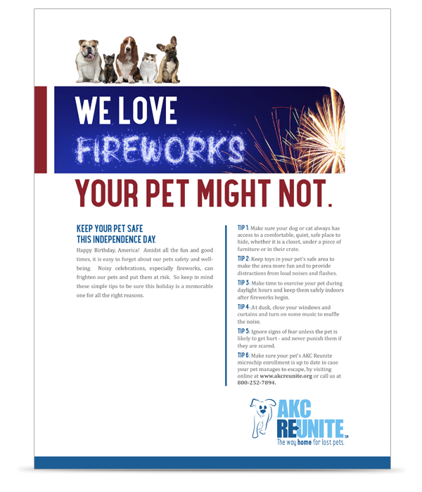 Keep Your Pets Safe on July 4th