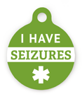 Have Seizures Pet ID Tag