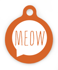 Meow Pet ID Tag