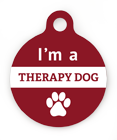Therapy Dog Pet ID Tag