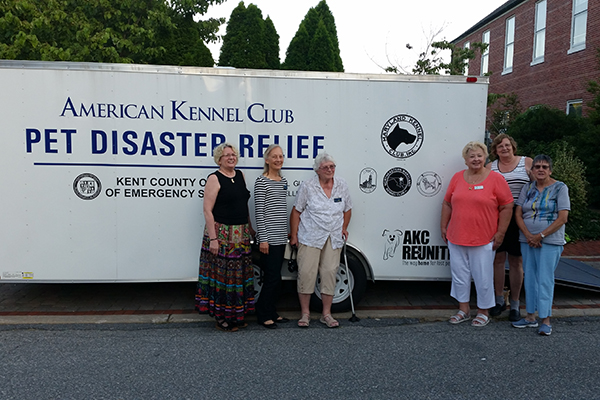 Trailer with Kennel Club Supporters